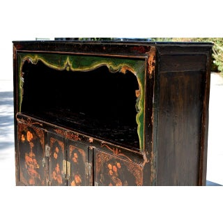 Antique Painted Pomegranate Open Light Chest Preview