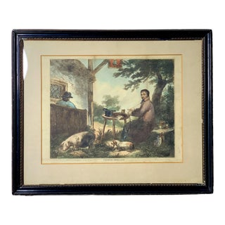 1805 Antique Edward Orme Hand-Colored Soft-Ground Etching For Sale
