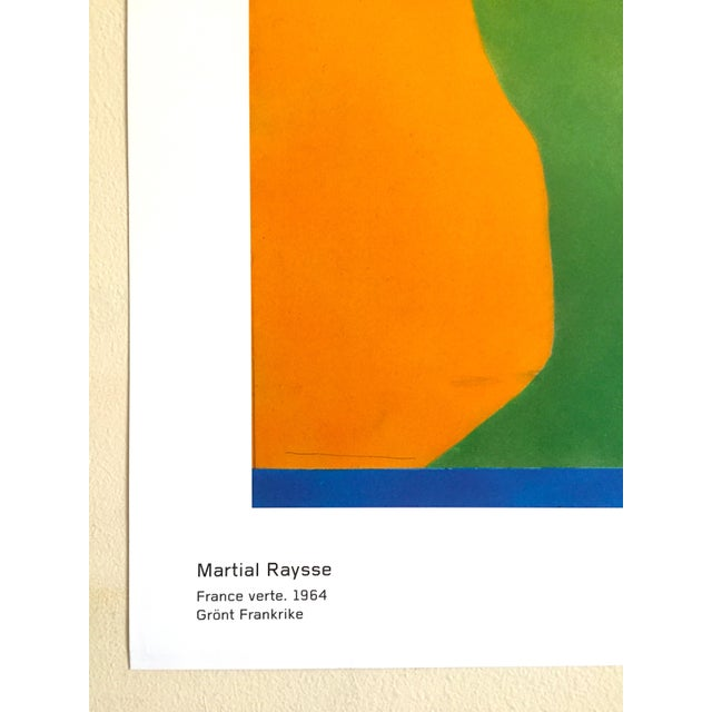 """Martial Raysee Moderna Museet Stockholm Lithograph Print Pop Art Poster """" France Verte """" 1964 For Sale - Image 9 of 13"""