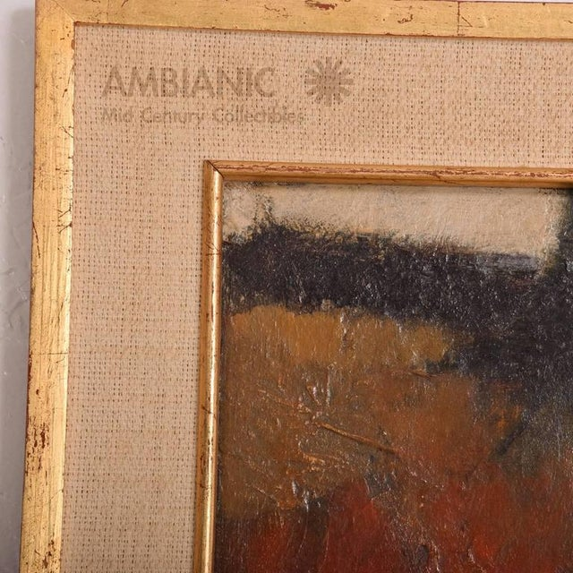 Oil Paint Mid-Century Modern Abstract Painting For Sale - Image 7 of 9