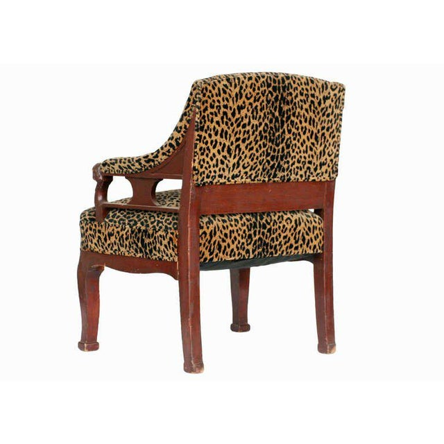 Empire Style Chair Pair with Leopard Print Covering For Sale - Image 4 of 8