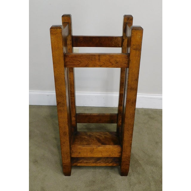 Mission Mission Style Antique Umbrella Stand For Sale - Image 3 of 13