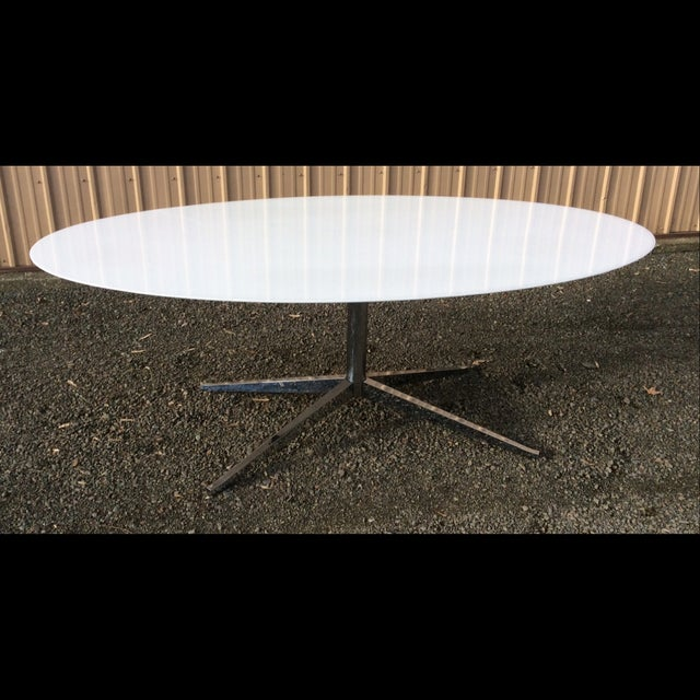 Florence Knoll Table Special Order Thassos Marble - Image 2 of 10