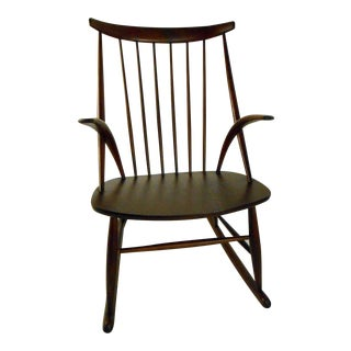 Scandinavian Modern Illum Wikkelso Rocking Chair For Sale
