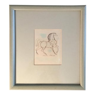 Aaron Bohrod Etruscan Horse Drawing