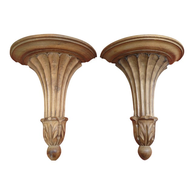 Italian Classical Wall Brackets - A Pair - Image 1 of 8