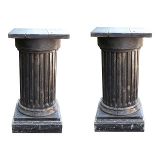 Vintage Wood Columns From France, Sold as - a Pair For Sale