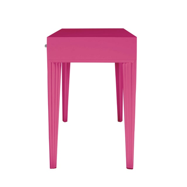 Not Yet Made - Made To Order Barcelona Desk - Bright Pink For Sale - Image 5 of 6