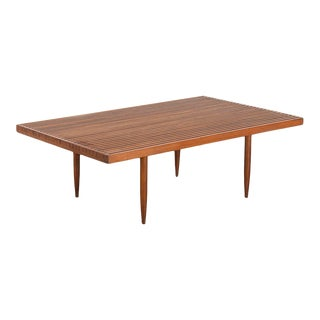 1950s Mel Smilow Slatted Coffee Table For Sale