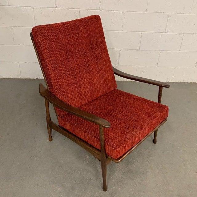 Danish Modern 1960s Vintage Danish Modern High Back Maple Lounge Chair For Sale - Image 3 of 8