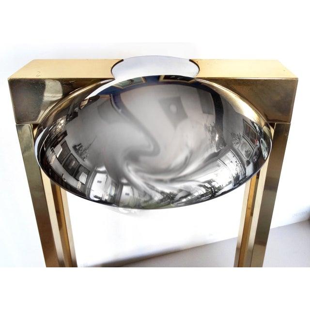 Hollywood Regency 1970's Chrome & Brass Modernist Desk Lamp For Sale - Image 3 of 9