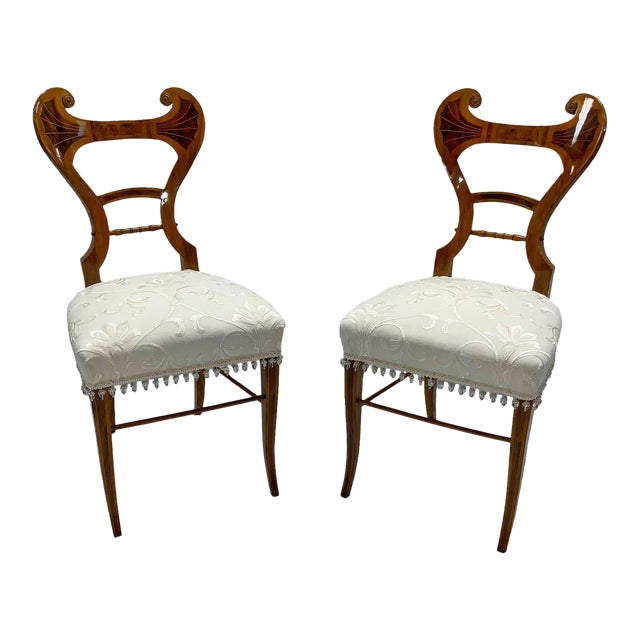 Early 19th Century Neoclassical Biedermeier Side Chairs - a Pair For Sale