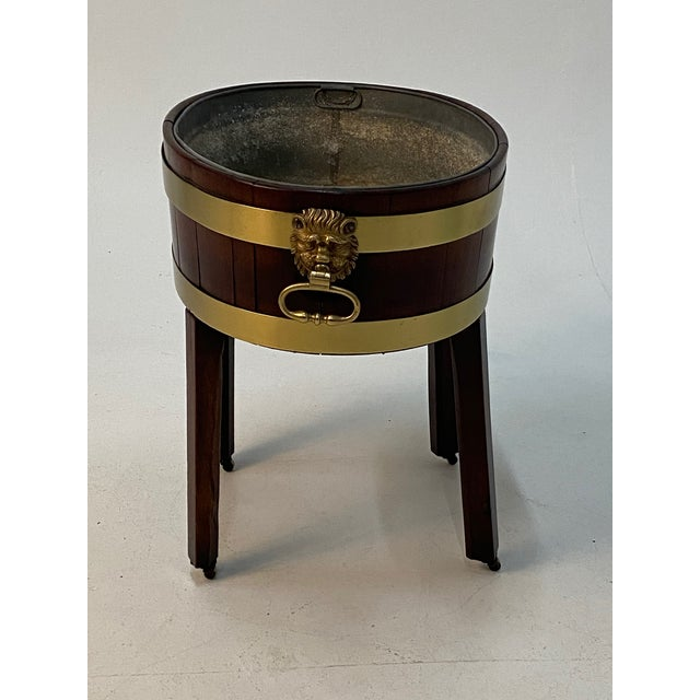 Late 19th Century 19th Century English Georgian Style Mahogany Cellarette on Stand For Sale - Image 5 of 11