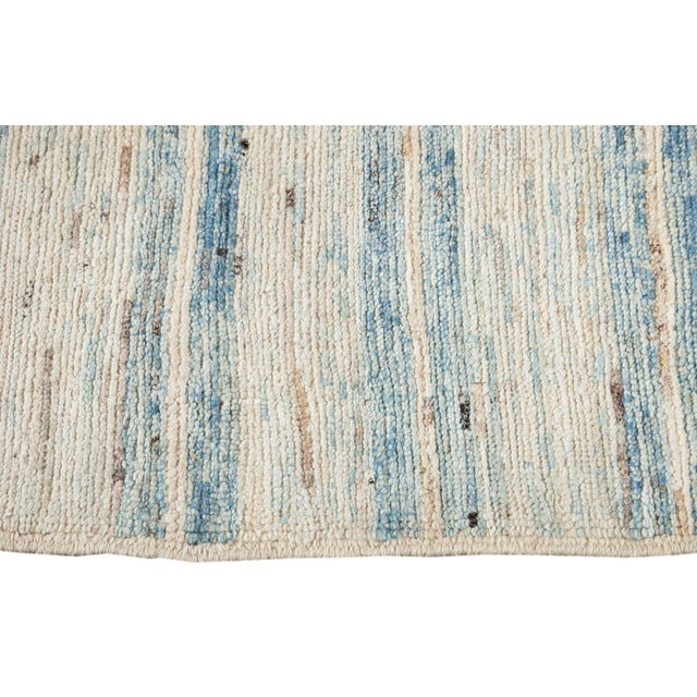 """Blue 21st Century Modern Moroccan-Style Rug, 8'0"""" X 9'10"""" For Sale - Image 8 of 11"""