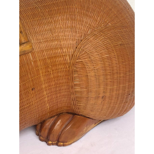 Wicker 20th Century Shanghai Collection Hand Woven Wicker Rabbit Box For Sale - Image 7 of 13