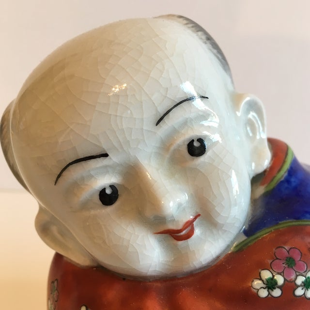 Lidded Porcelain Box With Asian Man Figure - Image 10 of 10