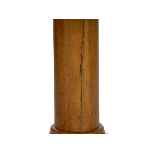 19th Century 19th Century Austrian Biedermeier Walnut Antique Round Center Table For Sale - Image 5 of 13