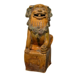 Antique Terracotta Foo Dog For Sale