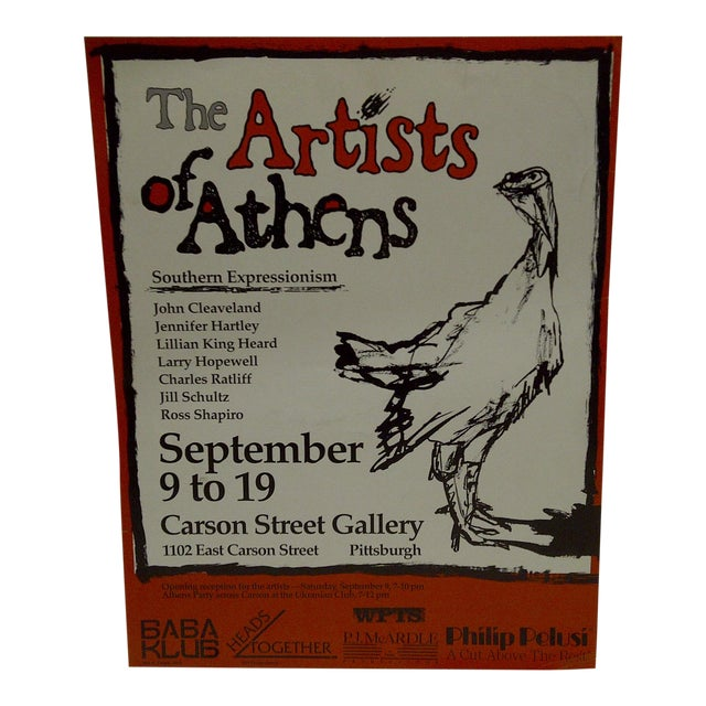 The Artists of Athens Carson Street Gallery Pittsburgh PA Poster - Image 1 of 5