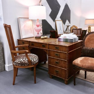 Mid Century Faux Bamboo Desk Preview