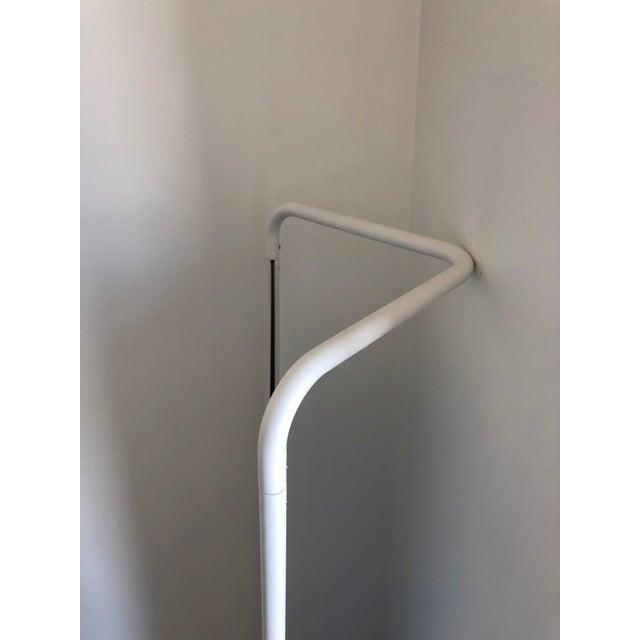 Contemporary Kasch Kasch White Aluminum Floor Mirror | Chairish