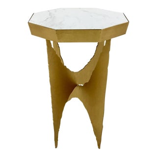 Bungalow 5 Gold Crane Side Table For Sale