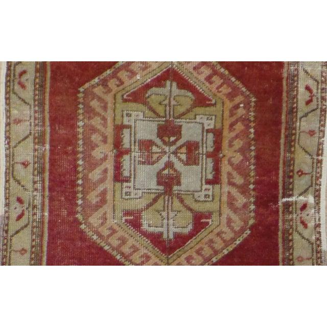 "Vintage Distressed Anatolian Rug - 1'6"" x 2'11"" - Image 2 of 2"