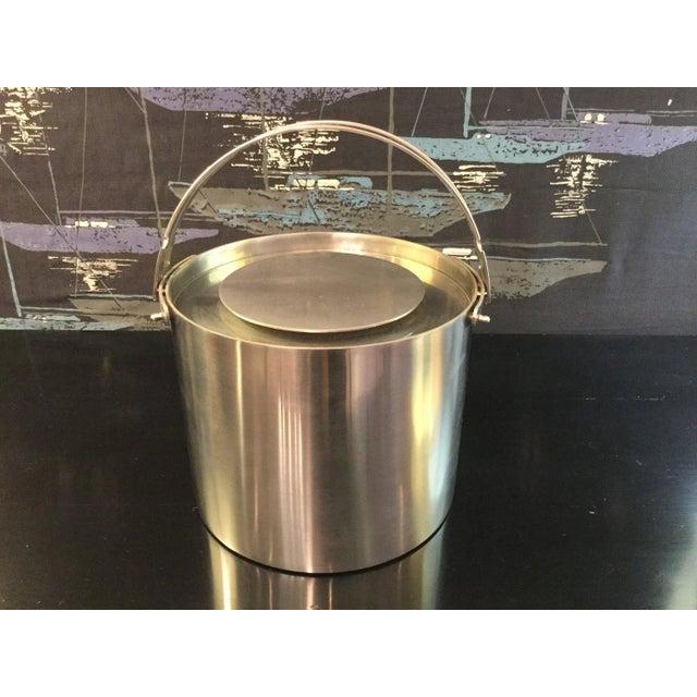 Mid-Century Modern Cylinda-Line Ice Bucket Arne Jacobsen For Sale - Image 3 of 3
