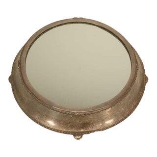 Antique Fenton Bros. Ltd English Silver Plated Mirror Plateau For Sale
