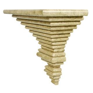 Italian Ziggurat Laminated Wall Console For Sale