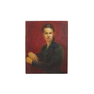 Portrait of a Woman - Stranger Art - Original Artwork - Oil or Acrylic on Hardboard