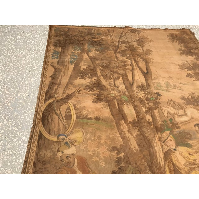 1900 - 1909 Antique Gobelin Wall Art Tapestry For Sale - Image 5 of 8