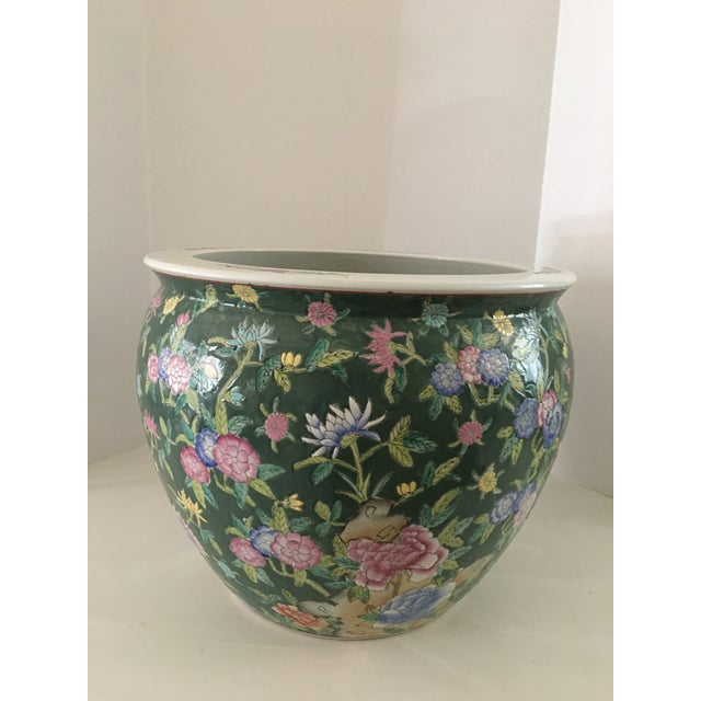 Late 20th Century Chinese Fish Bowl Planter For Sale In Detroit - Image 6 of 13