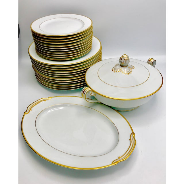 Gold Mid-Century 1940s Noritake Goldcroft China - Set of 25 For Sale - Image 8 of 11
