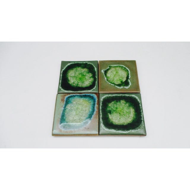 Early 21st Century Geode Crackle Glass Coasters - Set of 4 For Sale - Image 5 of 10