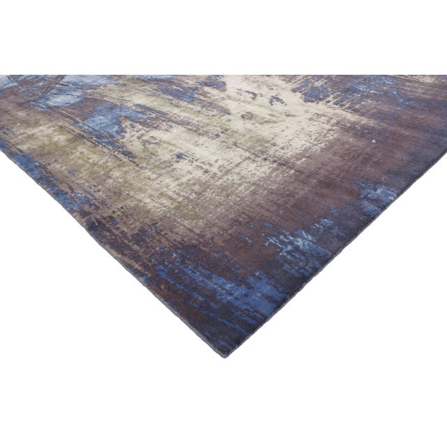 "Contemporary Abstract Scratch Texture Rug - 8'7"" x 9'11"" - Image 3 of 7"