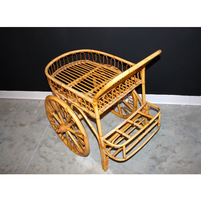 Rattan Bar Cart - Image 5 of 10