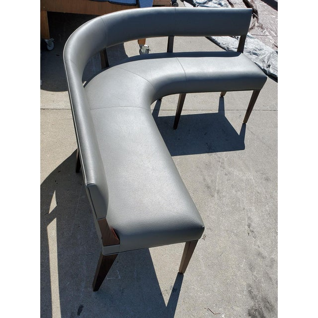 Contemporary New Custom Made Constantini Curved Bruno Bench For Sale - Image 3 of 11