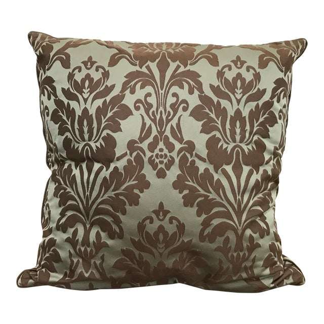 Restoration Hardware Cotton Silk Damask Pillow Cover - Image 1 of 4