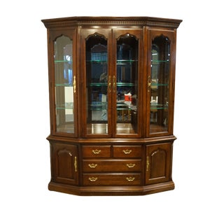 Thomasville Furniture Collectors Cherry Collection China Cabinet For Sale