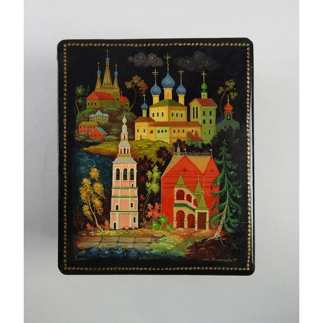 Hand Painted Russian Lacquer Box - Image 2 of 7