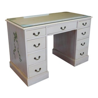 Custom Painted Girls Bedroom Mahogany Kneehole Desk