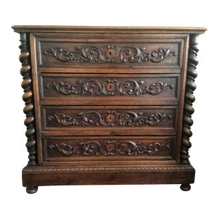 1910s French Carved Chest For Sale