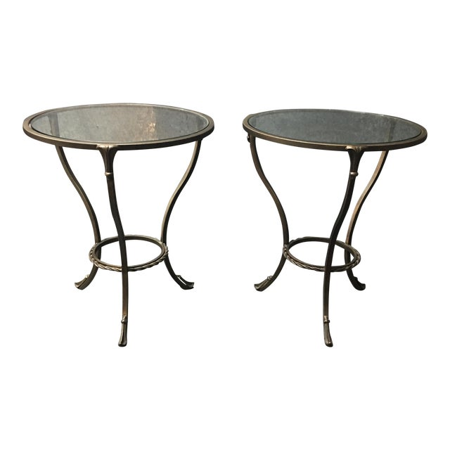 Kolkka Metal & Glass Side Tables - A Pair - Image 1 of 7