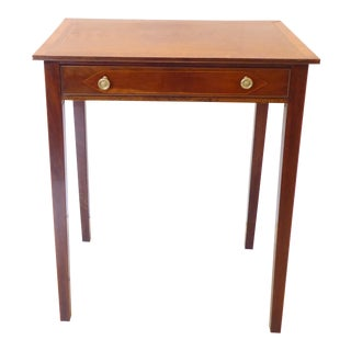 Antique English Georgian Mahogany Side Table For Sale