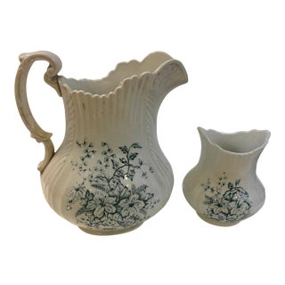 1960s Waco China Vintage Porcelain Jug & Creamer - a Pair For Sale