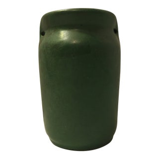 Mission Arts & Crafts Green Art Pottery Vase For Sale