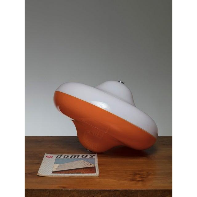 """Cesare Casati Rare """"Disco"""" Table Lamp by Cesare Casati for Guzzini For Sale - Image 4 of 5"""