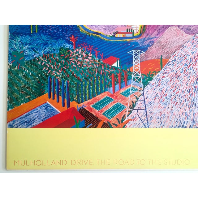"Rare 1980 David Hockney Original Collotype Print Poster "" Mulholland Drive "" For Sale - Image 9 of 11"