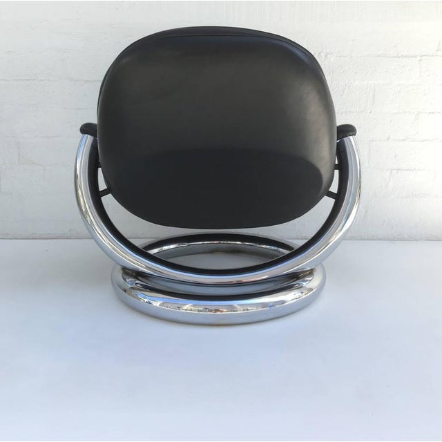 Chrome Chrome and Black Leather Anaconda Lounge Chair by Paul Tuttle For Sale - Image 7 of 10
